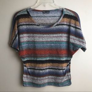 Wet Seal Fitted Multi Colored Top
